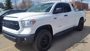 2017 Toyota Tundra Double Cab TRD in Alpine white with the ...