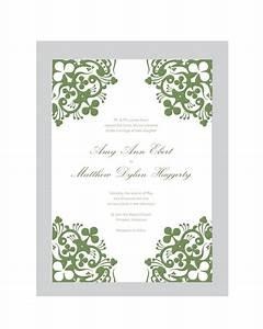 wedding invitation blank template free templates With blank wedding invitations ireland