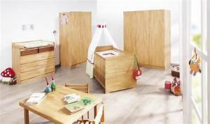 Chambre Bébé Bois Massif : chambre b b natura en massif avec grande armoire ~ Teatrodelosmanantiales.com Idées de Décoration