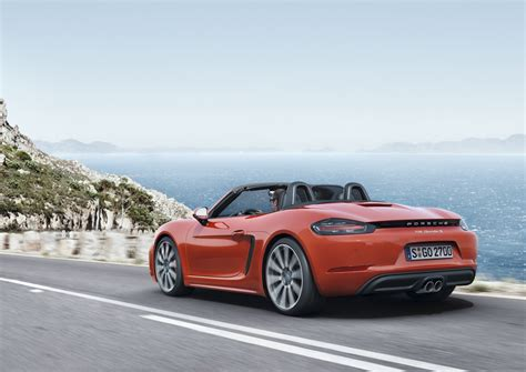 new porsche porsche 718 boxster revealed with new turbo d 4 cylinder