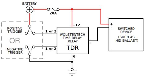 automotive time delay relay installation