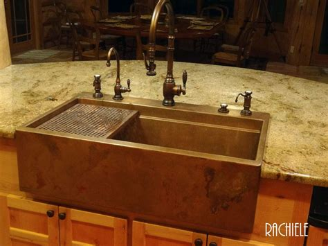 copper farmhouse kitchen sinks copper farmhouse sinks crafted in the usa 5787