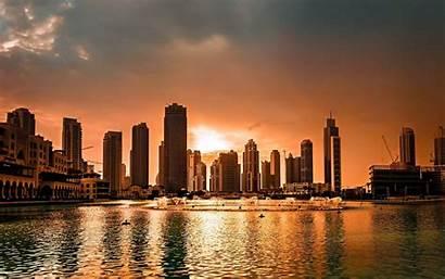 Dubai Sunset Town Wallpapers Flats Cheap