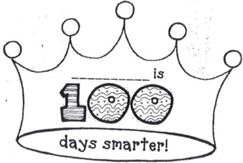 best free 100th day of school printable activities and 100 | 100 days of school crown