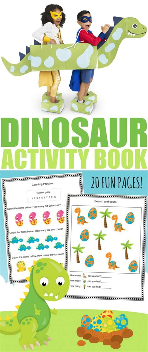 free printable dinosaur activity book frugal eh 979 | Dinosaur Activity Book