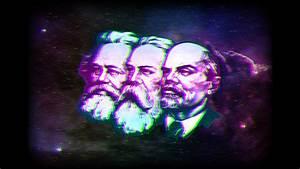Marx-Engels-Lenin wallpaper, original artwork at ...