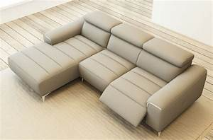 canape d39angle fonction relax en cuir italien 5 places With canape d angle cuir gris clair