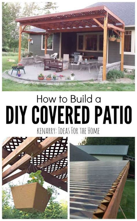 How To Build Covered Porch by How To Build A Diy Covered Patio
