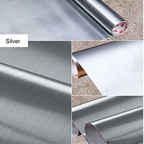 vinyl shelf liner brushed metal look contact paper vinyl self adhesive