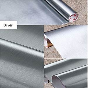 brushed metal look contact paper film vinyl self adhesive With best brand of paint for kitchen cabinets with vinyl sticker printer