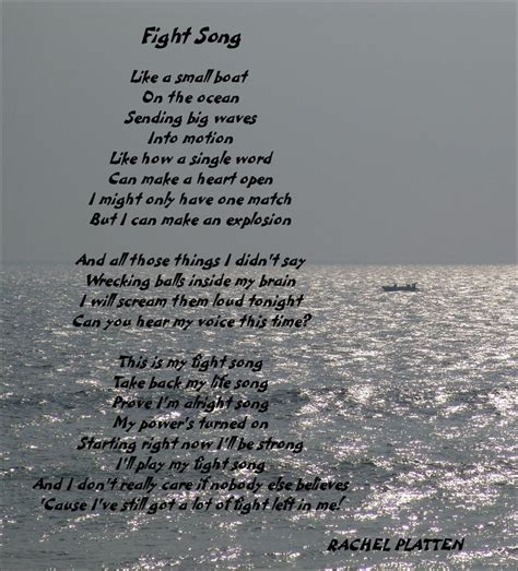 Small Boat Song Lyrics by 25 Best Ideas About Fight Song Lyrics On
