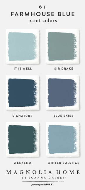 joanna gaines paint color choices farmhouse blue paint color palette magnolia home paint collection joanna gaines