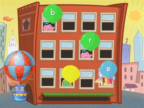 beginning sounds balloon pop reading game