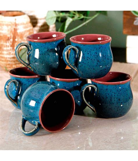 A combination of cup price, material used, pattern as well as colour play a role when it comes to buying cups. Unravel India Stoneware Coffee Cup 6 Pcs: Buy Online at Best Price in India - Snapdeal