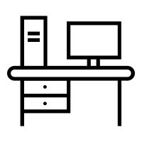 Office Desk Icon by Office Desk Icons Free Vector Icons Noun Project