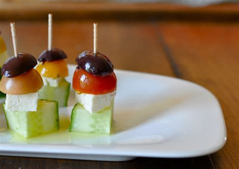 easy greek salad appetizer recipe popsugar food