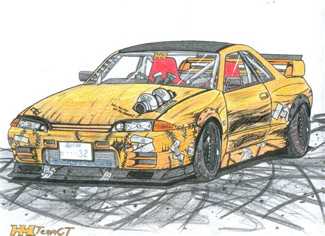 Here's a Skyline GTS-t Type M drift missile. Someone ...
