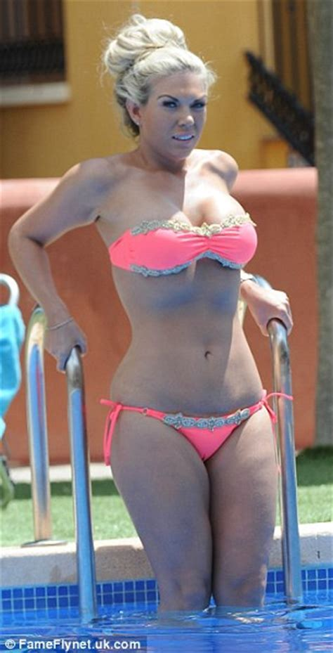 Towie S Frankie Essex Almost Pops Out Of Her Bikini In Alicante Daily Mail Online