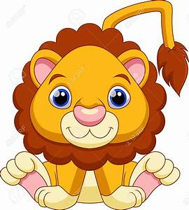 Cute baby lion cartoon clipart collection 4