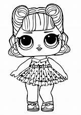 Lol Coloring Surprise Doll Jitterbug Pages Printable Sugar sketch template