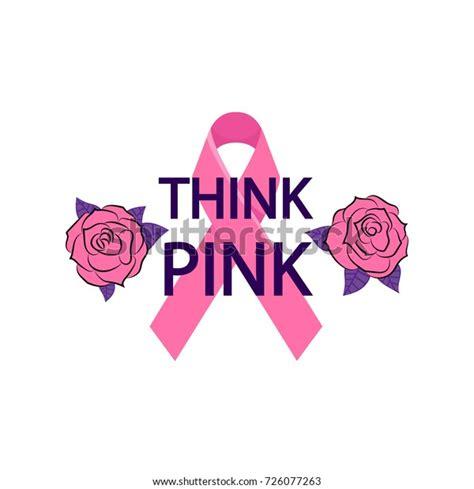 Think Pink Pink Ribbon Breast Cancer Stock Vector (Royalty ...