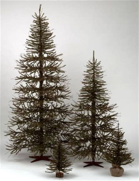 4 or 5 ftrustic christmas trees 4 ft rustic primitive style brown green twig vienna