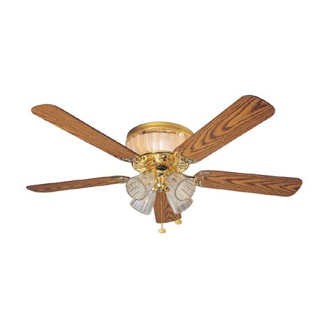 Harbor 52 Inch Ceiling Fan by Shop Harbor 52 Quot Moonglow Polished Brass Ceiling Fan