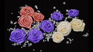 How to make satin ribbon roses / DIY ribbon flowers ...