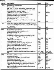 Goz Zahnarzt Abrechnung : fallbeispiel bleichen von z hnen bei einer patientin ~ Themetempest.com Abrechnung