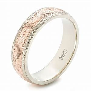 custom men39s hand engraved wedding band 102431 With mens engraved wedding rings