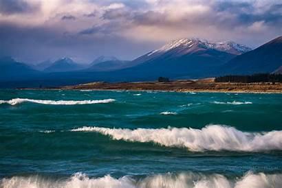 Tekapo Zealand Lake Roaring Waves South Island