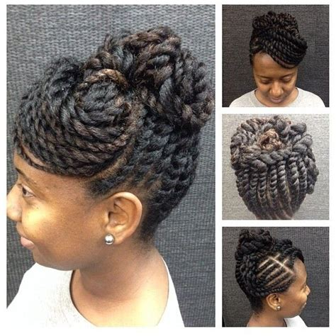 Two Strand Twist Updo Hairstyles by Quot At Www Kurleebelle Quot Two Strand Twists