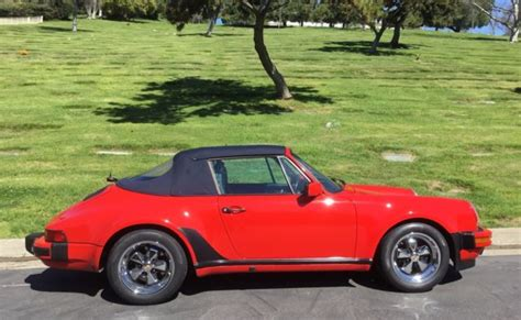 porsche whale tail for sale 1987 porsche cabriolet turbo look w o whale tail for sale