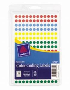 avery removable color coding labels 5795 With avery inventory labels