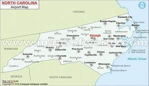 Buy North Carolina Airports Map