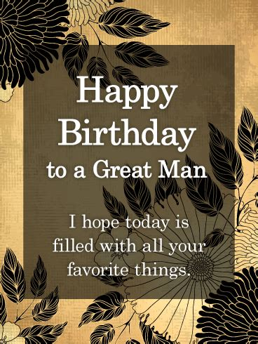 great man happy birthday card   birthday