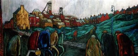 An Image Of Mining Artist, Tom Mcguinness's Paining Called
