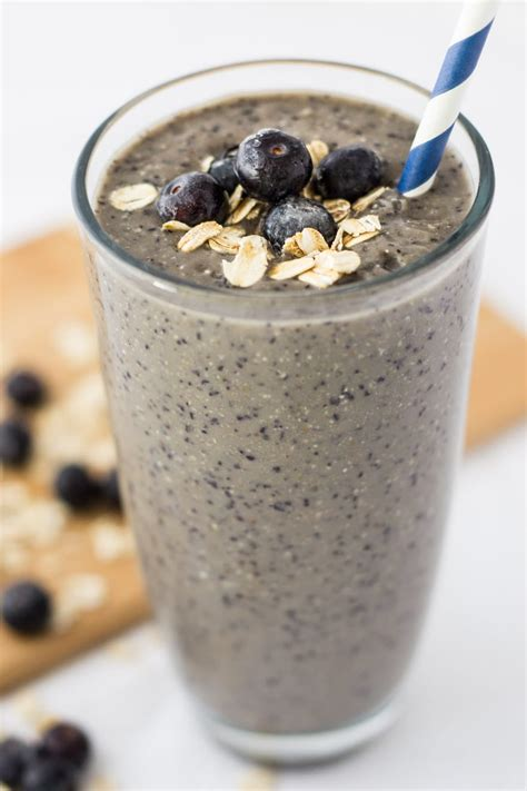 blueberry banana oatmeal smoothie   nutritious