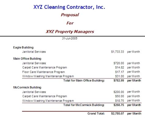 cleaning proposal cover letter samples cover letter
