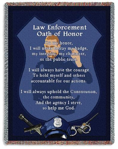 Police Oath Throw - Professions - Dancing Bears Gifts