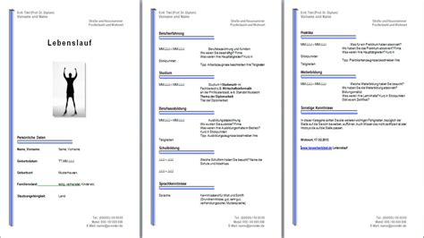 Lebenslauf Muster Vorlage Kostenlos by Lebenslauf Muster Vorlage Beispiele Kostenlos Downloaden