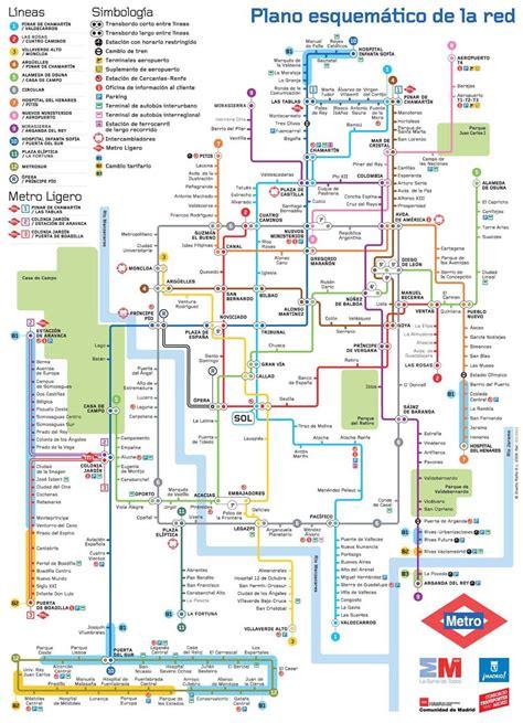 Carte Métro 2018 by Plan Du Metro De Madrid 2018