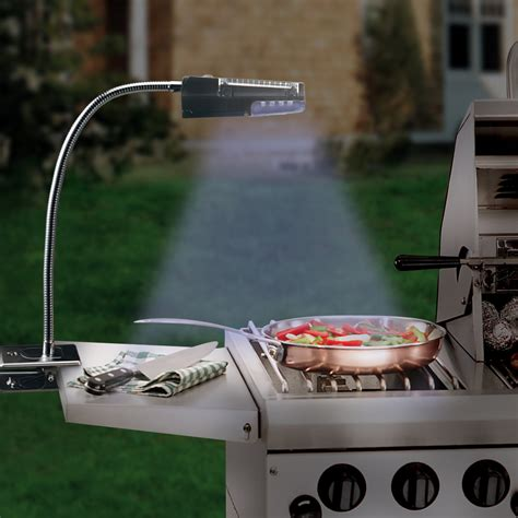 how to light a grill solar powered stainless steel grill light