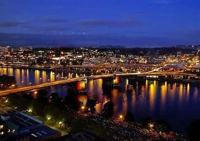 Portland Oregon Night Desktop Wallpapers Lights Maine