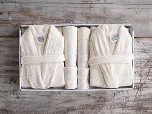 his and hers cream high quality 11 piece bath robe towel With robe de sortie