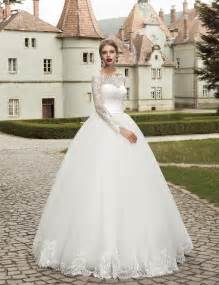 cheap wedding dresses with sleeves 2016 sleeve wedding dress gown garden lace applique bridal wedding gown cheap