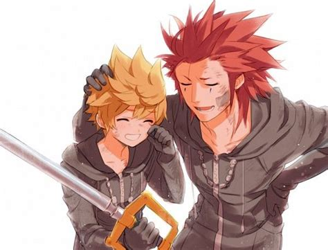 Roxas And Axel Fan Art Kingdom Hearts 3582 Days