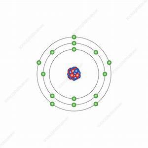Phosphorus  Atomic Structure - Stock Image  1528