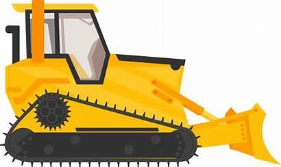 Bulldozer Clipart Equipment Excavator Heavy Construction Cartoon