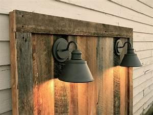 Barnwood Headboard w/lighting Gage Collection by ReBarnCHF